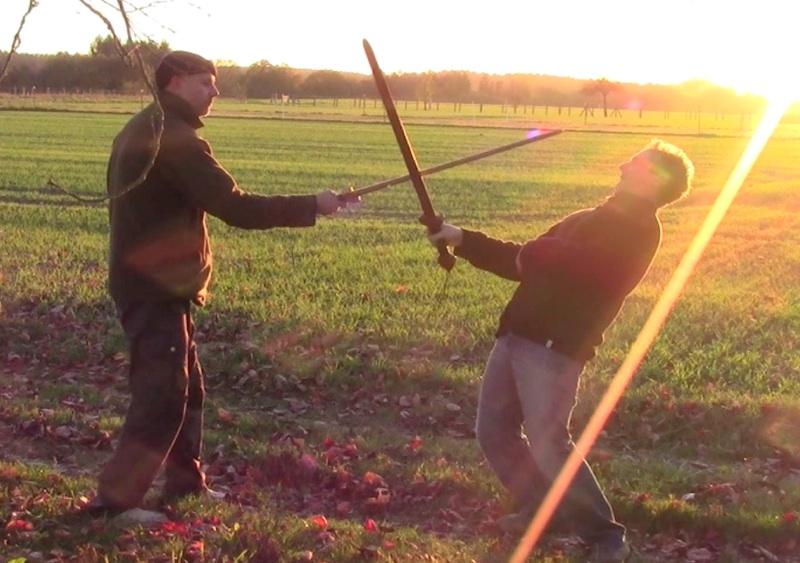 Dorian en Vincent doen zwaard